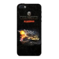 "Чехол ""Воин"" для Apple iPhone 5/5S World of Tanks"