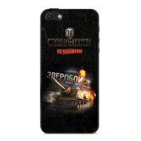 "Чехол ""Зверобой"" для Apple iPhone 5/5S World of Tanks"