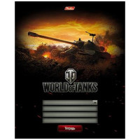 Тетрадь World of Tanks (клетка на скобе, А5, 12 л.)