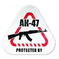 "Наклейка на машину ""Protected by AK-47"", 200*186 мм"